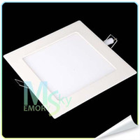 Wholesale Hot Sale Now W W W Ultrathin LED Panel Lights AC V V Square Recessed Lamp Ceiling Lights Cool WarmWhite