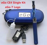 Single Multi Metal CE4 eGo Starter Kit E-Cig Electronic Cigarette Zipper Case package Single Kit 650mah 900mah 1100mah Real Capacity DHL Free