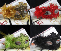 Bauta Mask rhinestone mask - 30pcs Rhinestones Women Venetian Mask Sexy Masquerade Diamond Lady Feather Flower Lace Masks Lady Floral Costume Ball Eyes Accessories D2309