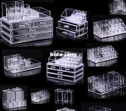 Wholesale Cosmetic organizer makeup drawers Display Box Acrylic Clear Cabinet Cases Set S3