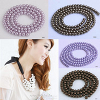 Wholesale 6mm strand Fashion Faux Pearl Spacer Loose Beads For Jewelry Necklace Bracelet Making Colors Choose BDB