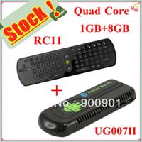 Wholesale 2013 factory price Mini PC UG007 II Android Dual Core GHZ Fly Air Mouse A UG007ii RC11 vs UG007B
