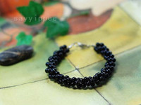 Wholesale Thai Jewelry Buddha Black Onyx beads Bracelet Multilayer Amulets beaded Trinket For Woman Best Gift