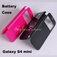 samsung galaxy s4 - For Samsung Galaxy S4 Mini I9190 Window Flip Battery Back Leather Case Smart Cover