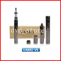 Wholesale 2014 New VAMO V5 Body Electronic Cigarette E cig Mod Black Chrome Variable Voltage Mod Body with LED Display in Gift box DHL Free