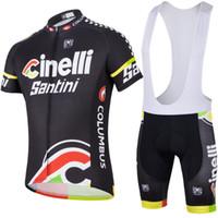 Wholesale 2014 Cinelli Santini Columbus Sms Cycling Apparel Set Women Bib Short Sleeve Bicycle Body Suit Compressed Men Outdoor Bike Clothing