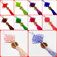 Wholesale Color Car Ornaments Hanging Accessories Fashion Chinese knot Home Decor Crafts Hanging Free