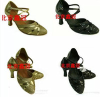Sandals ballroom dance shoes - f Factory Dance shoes Sandals Direct manufacturers The Latin dance shoe Ladies Ballroom dance Gold silver Black Modern dance shoes