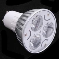 110V 9W White High power GU10 3x3W 9W LED Light Lamp Bulb Downlight 110-220V