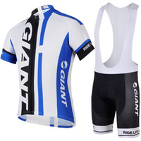 apparel giant bikes - Giant Hot Sale Blue Cycling Apparel Set Bib Cycling Jersey Sets Short Sleeve Bicycle Body Suit Compressed Men Outdoor Bike Clothing