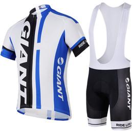 2017 cuissard vente Géant 2014 Vente Hot Bleu Cycling Apparel Set Bib Cycling Jersey Sets Suit manches courtes Bicycle Body Compressed Men Outdoor Vélo Vêtements bon marché cuissard vente