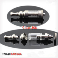Electronic Cigarette Set Series  50 sets Original iclear30s atomizer for e cigarette itaste VTR clearomizer itaste SVD high quality iclear 30S dual coil Free shipping