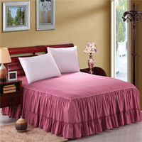 Wholesale flouncing bedspread beautiful flouncing counterpane in different size and color to choose
