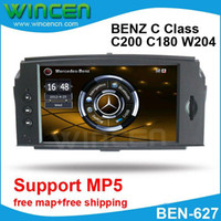 """1 DIN Special In-Dash DVD Player 6.2 Inch Wholesale - 6.2"""" Car DVD GPS Player for BENZ C Class C200 C180 W204 2008-2010 with MP5 Function Free Shipping+Free Card with Map!!!"""