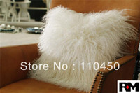 Wholesale Mongolian Lamb Cushion Pillow Factory Shop