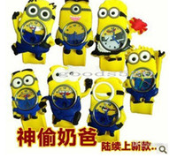 Wholesale Despicable Me D Minions Children Snap WATCH Baby Boy Girl Watches Cartoon Silicoen Wrist Watch Christmas Gifts DHL ship Model