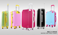 Wholesale New fashion ABS luggage trolley case suit case