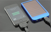 Wholesale 2600mAh Solar charger External Battery Pack solar power bank and Charger for Cell Phones iPhone Nokia iPod and Most USB Powered Devices