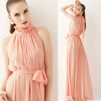 Wholesale Hot Fashion Women Sexy Strapless Chiffon Bohemian Maxi Long Beach Dress Summer Casual Dress