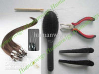 Wholesale Remy Human Hair Extensions quot Micro ring loop hair extension DIY Kits