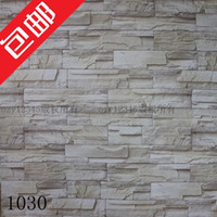 Classic Paper Wallpapers Waterproof Wholesale - Thickening wallpaper brick stone tv background wallpaper kitchen cabinet furniture papel de parede 3D wallpaper roll