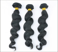 Wholesale A Unprocessed Malaysian Virgin Hair Loose Wave a Human Hair Extensions Natural Black Color weave hair