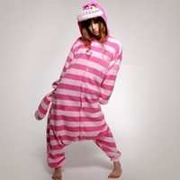Wholesale Fashion Adult Kigurumi Pajamas Animal onesies jumpsuit cosplay costume hoodies comfortable sleepwears dinosaur Cheshire Cat