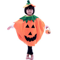 Cheap Wholesale-Free shipping, Halloween children's clothes masquerade costume pumpkin clothing hat bucket, Drop shipping, PW0029
