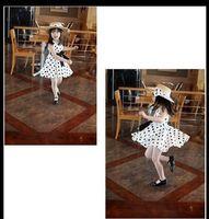 Wholesale supernova sale children clothing age navy white polka dot summer dress vintage baby girls dresses