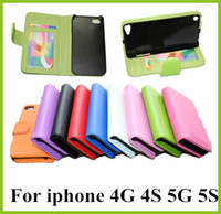 Leather best iphone credit card case - Best PU Leather Wallet Case Cover With Credit Card Slots Photoframe photo frame For iphone G Iphone5 S iphone4G GS