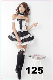Wholesale - Sexy lingerie maid Dress costume Fancy Dress GL125 one size