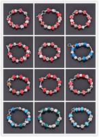 South American amethyst hole - Mix design Big hole European pandola glass beads Bracelet Silver Jewelry Ball Bead Bracelet Bangle GL08