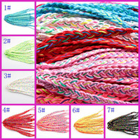 Wholesale Weave String Bracelets For Women Handmade Wedding Bangle Bracelets Charm Jewelry
