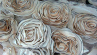 Trims chiffon fabric - 3 quot D Rose Chiffon Mesh Lace With Glitter Dark Eadge Fabric Shabby Trim Wedding headbands hair accessories costume Free Post