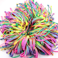 Wholesale Colorful Lucky Friendship Bracelets Wedding Jewelry Cord Strand Brand Bracelets Charm Jewelry