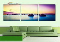 Cheap Wholesale - Free shipping!3 piece wall canvas beach canvas art The sunshine coast wall painting for sitting room decorate 30*30cm