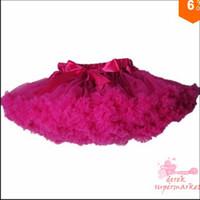 Wholesale Baby kids solid color girls fluffy dance wear pettiskirts cute chiffon tutu princess skirts