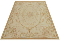 Wholesale x3m Hand Woven Aubusson Area Rug Antique French Pastel Floor Carpet Decorative