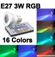 best rgb colors - HOT Sell the best V Colors changing RGB LED Lamp W E27 RGB LED Bulb Lamp Spotlight Remote Control