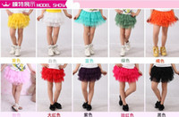 girls pettiskirts - New fashion summer girls skirt ball gown princess fluffy pettiskirts baby tulle layered tutu short skirts party clothes