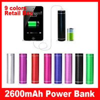 Wholesale 300pcs Colorful USB Power Bank External Battery Charger mAh for iPhone Mobile Phone Micro USB Cable Retail Box