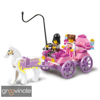 Wholesale 2013 Hot Enlighten Child Educational Princess carriage SLUBAN building block sets diy toy children toys