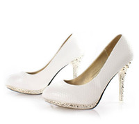 Women Pumps Spring and Fall 3 pairs lot free shipping .Cheap Price White Serpentine Leather Shoes Ladies Women's High-Heels Platform Wedding Dress shoes