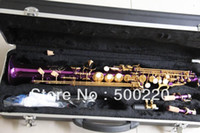 Wholesale New Nice Soprano Saxophone with ABS case in purple