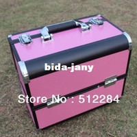 Wholesale professional makeup box multilayer cosmetic bag with lock make up box container storage box beauty case