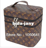 Wholesale Free transportation stereotypes Cosmetic large capacity double vanity case storage box