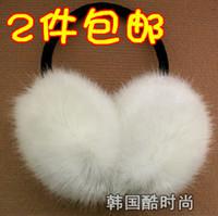 Wholesale Imitation fox fur imitation rabbit adjustable oversized fake fur earmuffs cover their ears warm earmuffs ear lovely warm_In Stock