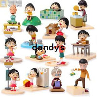 age bi box - Dropshipping New PVC Box Packed Cute Chi bi Maruko Action Toy Figure High Quality Japanese Anime SET