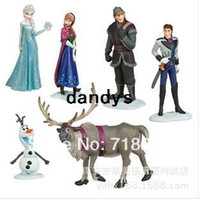 Wholesale Drop Frozen Figure Play Set Anna Elsa Hans Kristoff Sven Olaf Classic Toys