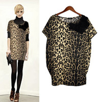 Wholesale flannel leopard xxl big size shirt sundress sleeveless sexo clothing goods innovative items ladies mini loose hippie dresses